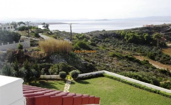 Villa on a hill, beach on foot