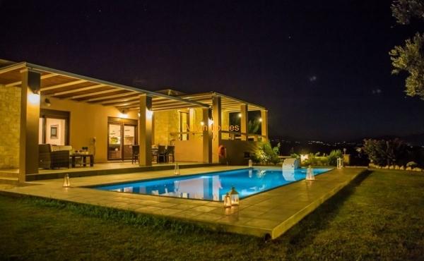 Large villa in the garden on a hill near the beach