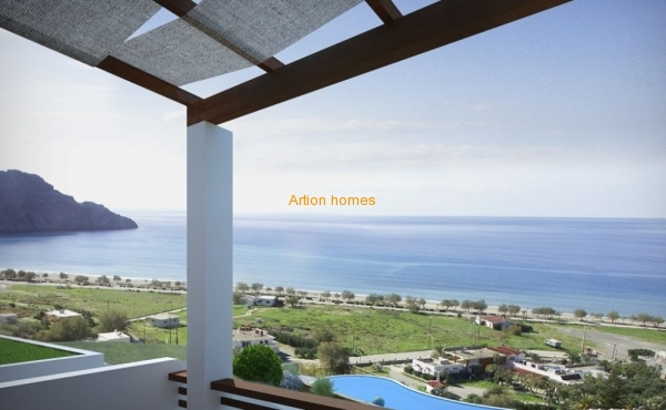Modern cottage in a new complex over the sea