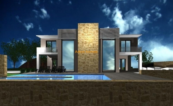 Unfinished villa for 40 hundred, panoramic view