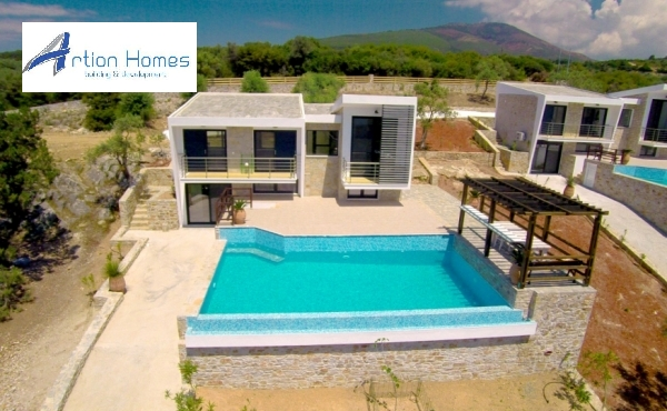 Unique Villa in amphitheatrical land of 15.600 sq.m with a private beach, in Thasos